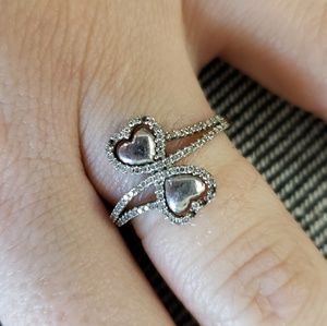 10k heart ring